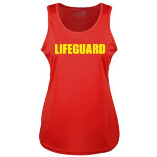 LADIES LIFEGUARD RED COOLTEX VEST